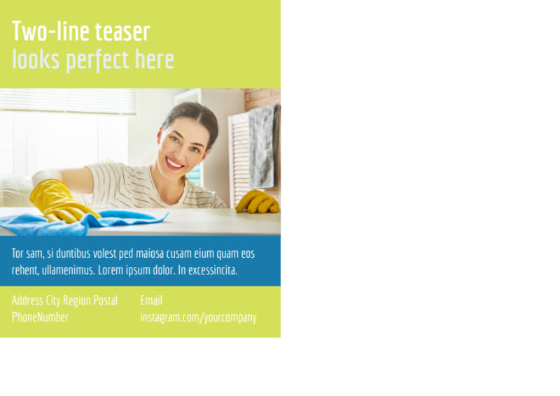 Completely Clean Postcard Template Preview 3