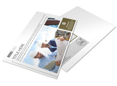 Commercial Construction Company Postcard Template preview