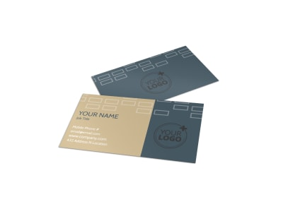 Construction & Remodeling Company Business Card Template preview