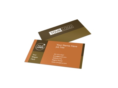 Construction Equipment Supplier Business Card Template preview