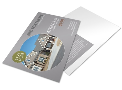 Home Builder Construction Postcard Template preview