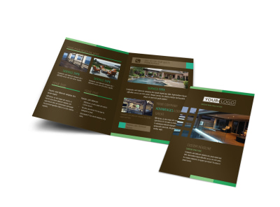 Backyard Construction Bi-Fold Brochure Template