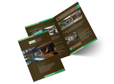 Backyard Construction Bi-Fold Brochure Template preview