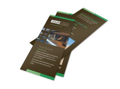 Backyard Construction Flyer Template preview