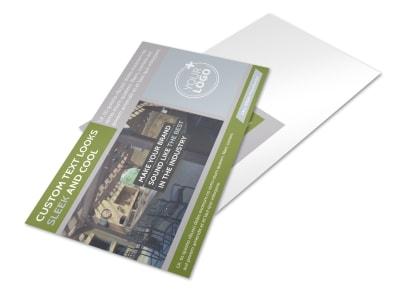 Custom Backyard Construction Postcard Template preview
