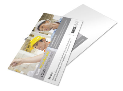 Commercial Construction Pros Postcard Template preview