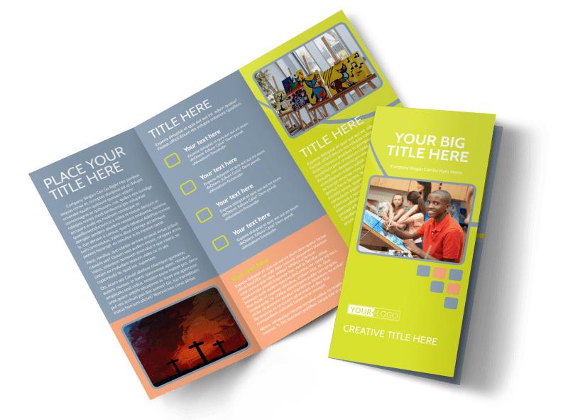 Creative Art Class Tri-Fold Brochure Template
