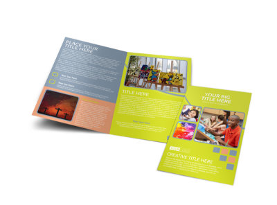 Creative Art Class Bi-Fold Brochure Template preview