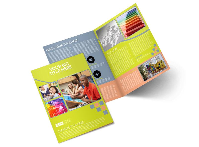Creative Art Class Bi-Fold Brochure Template