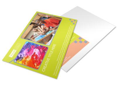 Creative Art Class Postcard Template