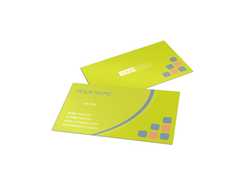 Creative Art Class Business Card Template