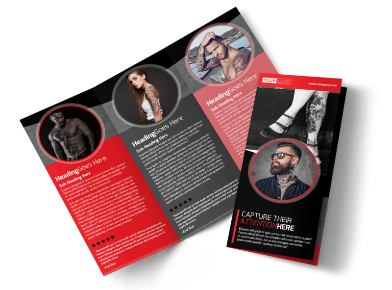 Creative tattoo artist brochure template mycreativeshop for Art brochure template