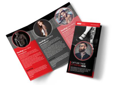 Creative Tattoo Artist Tri-Fold Brochure Template preview
