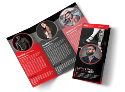 Creative Tattoo Artist Tri-Fold Brochure Template preview