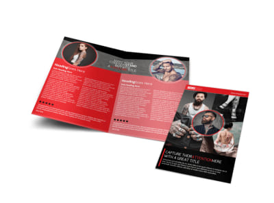 Creative Tattoo Artist Bi-Fold Brochure Template preview