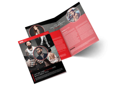 Creative Tattoo Artist Bi-Fold Brochure Template preview