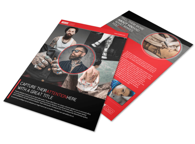 Creative Tattoo Artist Flyer Template