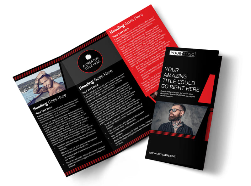Local Tattoo Parlor Tri-Fold Brochure Template