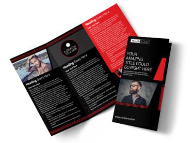 Local Tattoo Parlor Tri-Fold Brochure Template preview