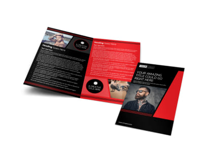 Local Tattoo Parlor Bi-Fold Brochure Template
