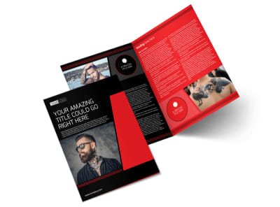 Local Tattoo Parlor Bi-Fold Brochure Template preview