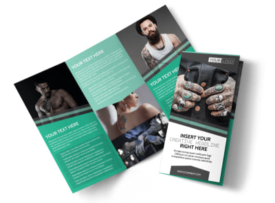 Professional Tattoo Artist Tri-Fold Brochure Template preview