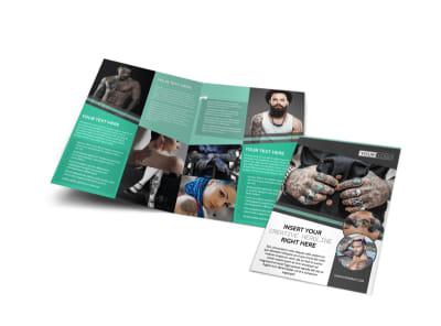 Professional Tattoo Artist Bi-Fold Brochure Template preview