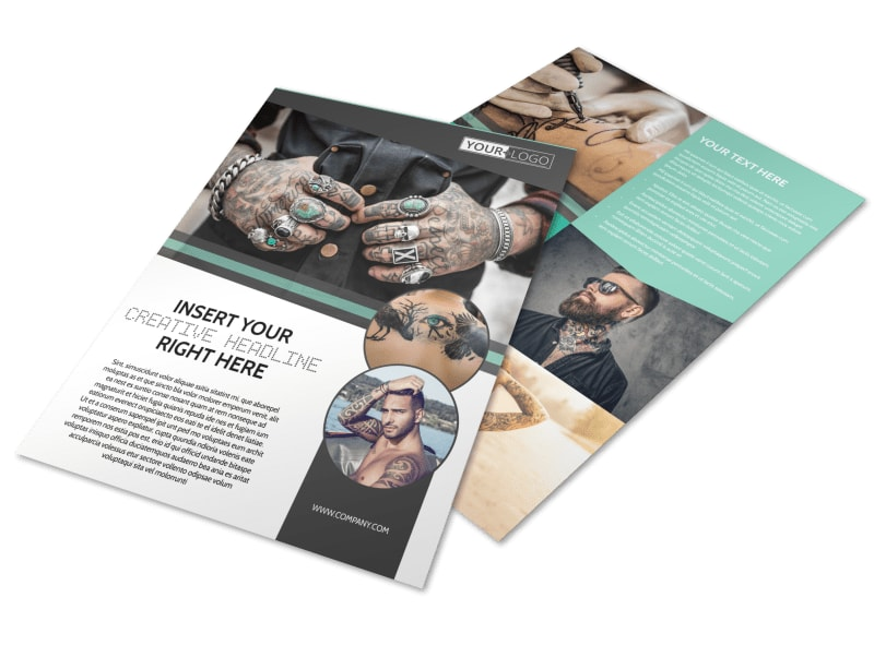 Professional Tattoo Artist Flyer Template