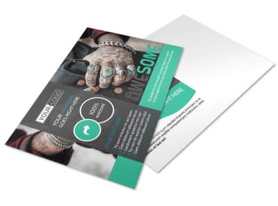 Professional Tattoo Artist Postcard Template