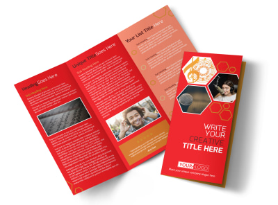 Voice Lessons Tri-Fold Brochure Template preview