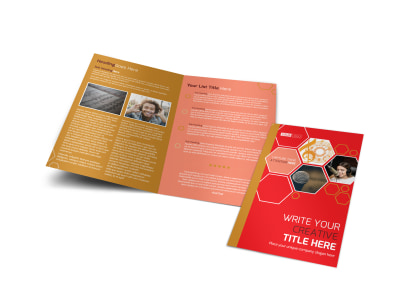 Voice Lessons Bi-Fold Brochure Template preview