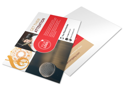 Voice Lessons Postcard Template preview