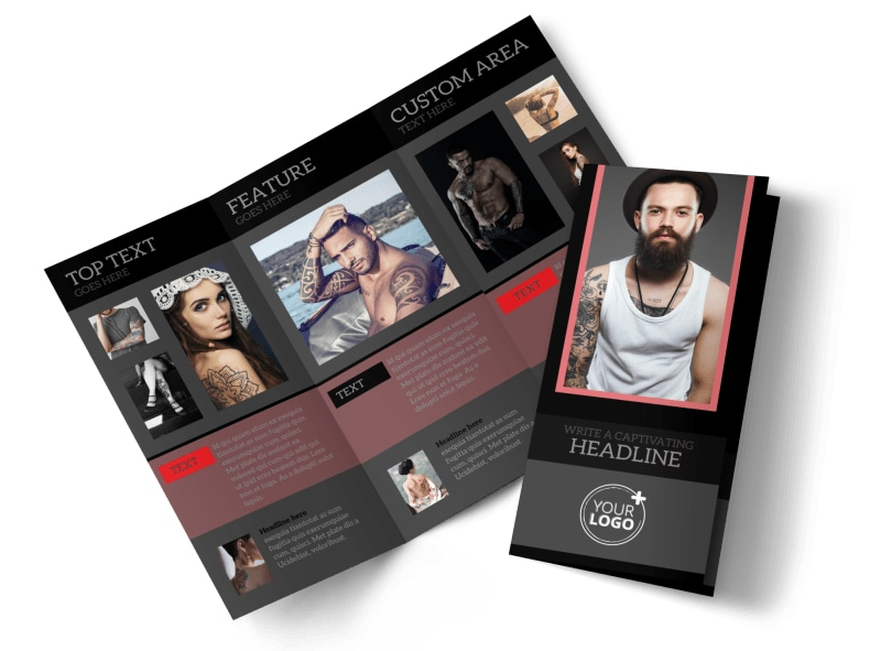 Custom Ink Tattoos Tri-Fold Brochure Template