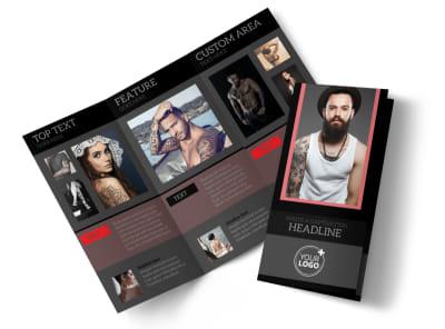Custom Ink Tattoos Tri-Fold Brochure Template preview