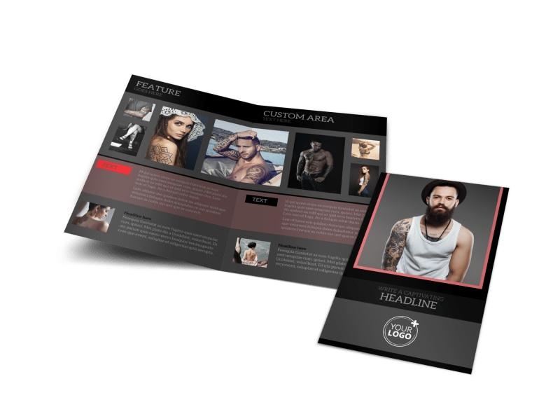 Custom Ink Tattoos Bi-Fold Brochure Template
