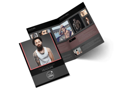 Custom Ink Tattoos Bi-Fold Brochure Template preview