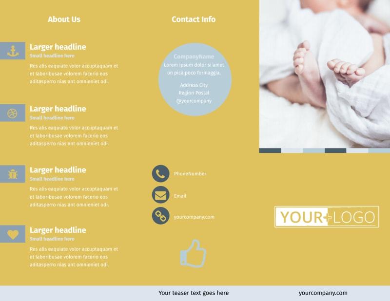 Newborn Photography Brochure Template Preview 2