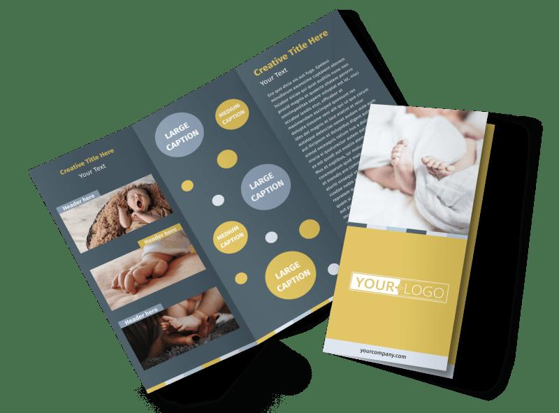 Newborn Photography Brochure Template Preview 1