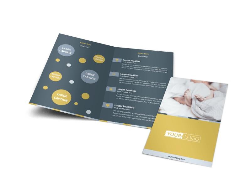 Newborn Photography Bi-Fold Brochure Template