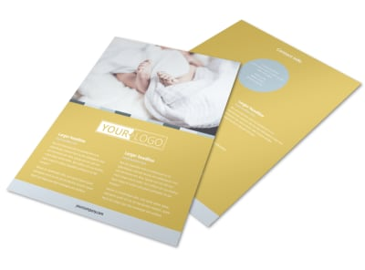 Newborn Photography Flyer Template