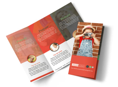 Toddler Photography Tri-Fold Brochure Template preview