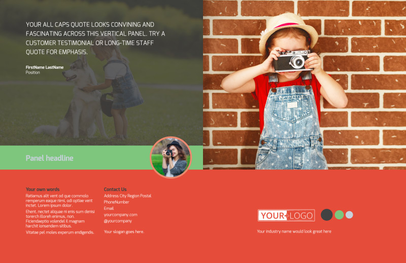 Toddler Photography Brochure Template Preview 2