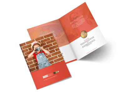 Toddler Photography Bi-Fold Brochure Template preview