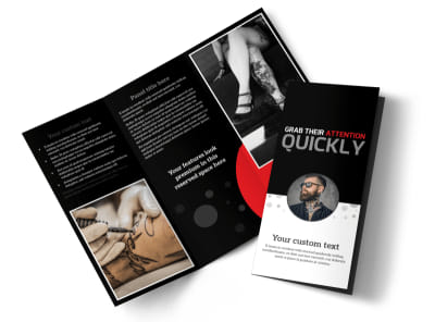 Creative Ink Tattoos Tri-Fold Brochure Template