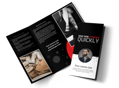 Creative Ink Tattoos Tri-Fold Brochure Template preview