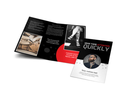 Creative Ink Tattoos Bi-Fold Brochure Template preview