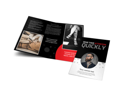 Creative Ink Tattoos Bi-Fold Brochure Template preview