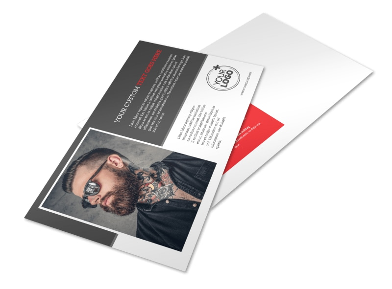 Creative Ink Tattoos Postcard Template