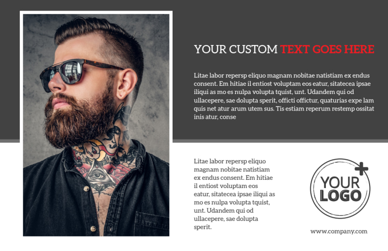 Creative Ink Tattoos Postcard Template Preview 2
