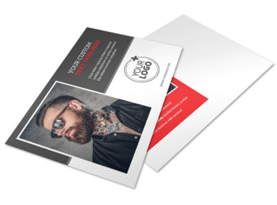 Creative Ink Tattoos Postcard Template preview